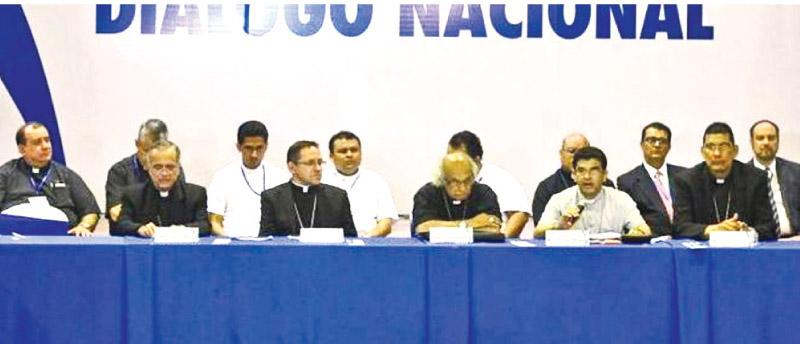 The peace talks were brokered by Nicaragua's Roman Catholic Church