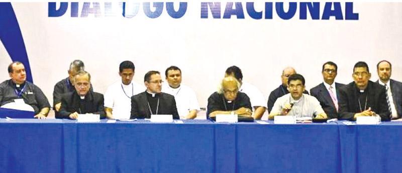 The peace talks were brokered by Nicaragua's Roman Catholic Church