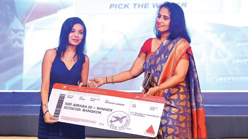 Director, MTV, Shanthi Bagiratharan with a winner