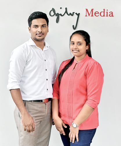 Dulanjali Dilrukshi (right) and Sanoj Fernando