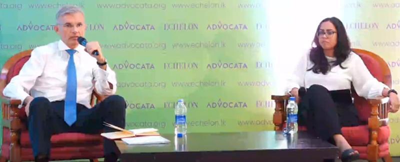 Razeen Sally in discussion with Economist at JB Securities Ltd.,  Eshini Ekanayake