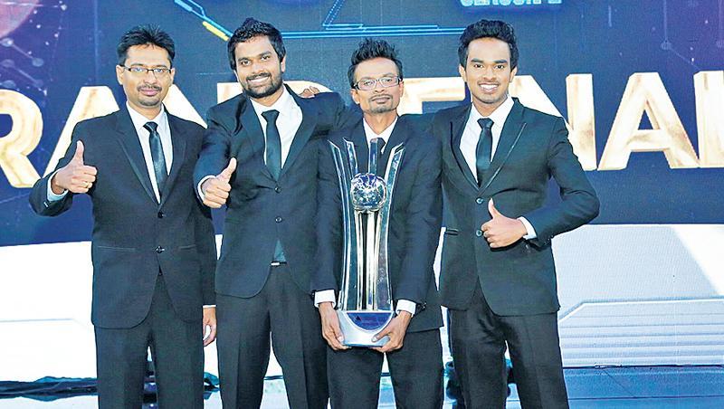 The winner and the three finalists of Kotiyak Vatina Adahasak - Season 2