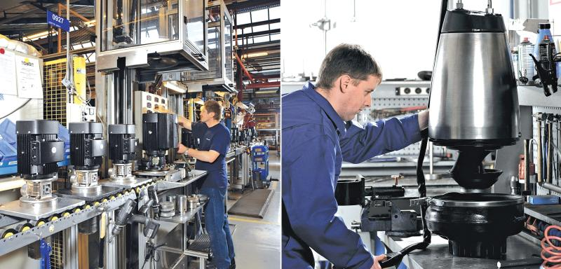 Employees at Grundfos facilities