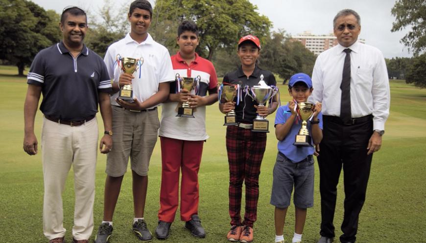 The winners of last year's tournament, Levon Niyarepola (left), Nirekh Tejwani, Taniya Minel Balasuriya and KvahnTejwani