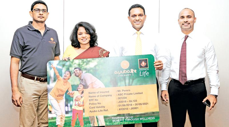 (From left) Chandimaooray, Chief Digital Officer, Hemas Holdings PLC; Dr. Chamila Ariyananda, Chief Operating Officer,ayubo.life; Jude Fernando, Director and Chief Executive Officer, Janashakthi Insurance PLC and Tharaka Mudalige, Head of Partnership Development, Janashakthi Insurance PLC