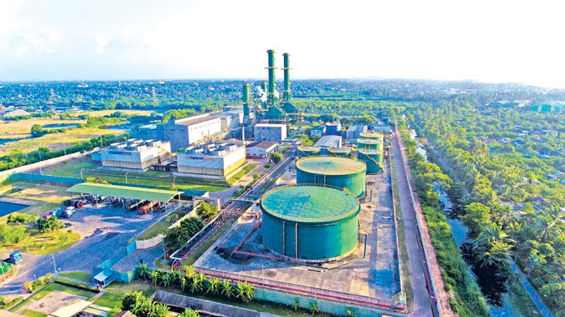 An aerial view of the Combined Cycle Power Plant at Kerawalapitiya