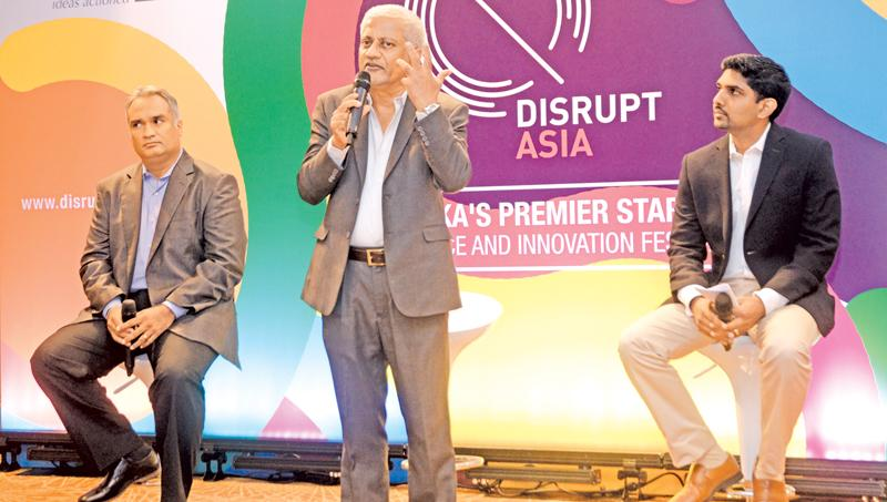 ICTA Chairman Prof. Rohan Samarajeeva at the launch of 'Disrupt Asia 2018' Start-up conference and Innovation festival. PIC: VIPULA AMERASINGHE