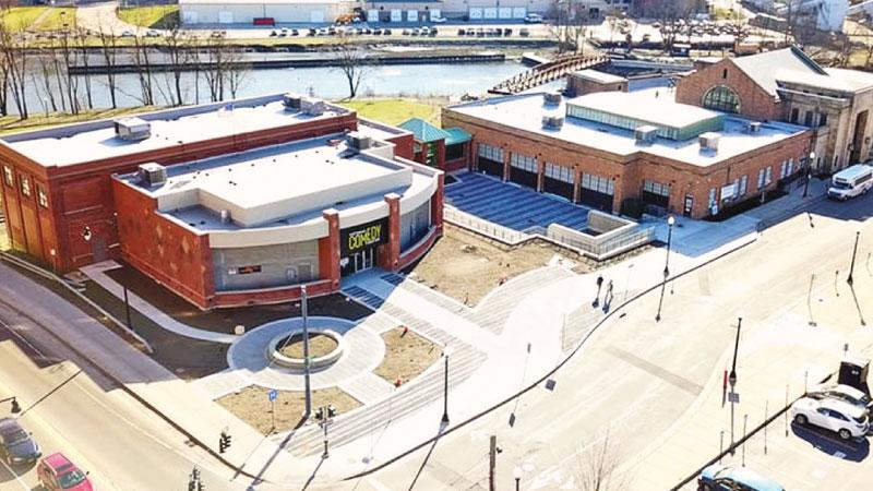 A 40,000 square-foot interactive comedy center filled with cultural artifacts and immersive exhibits