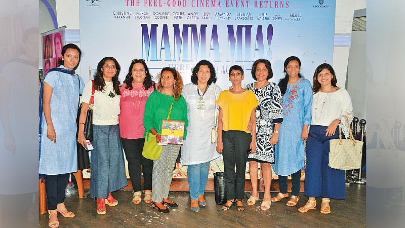 From left : Ilma Marrikar, Iffeth Mansoor, President Farida Alibhoy, Lankani Hettigoda, Tasneem Mutaher, Diyamanti Gunaratne,  Ratan Abdulhusein, Maryam Marrikar and Farida Lukmanjee