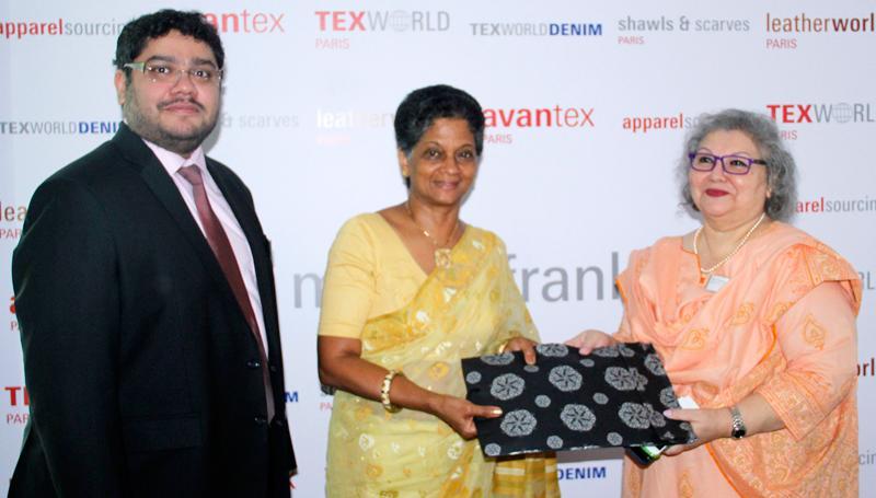 A token of appreciation being presented to EDB Chairperson Indira Malwatte. Pic: Chaminda Niroshana