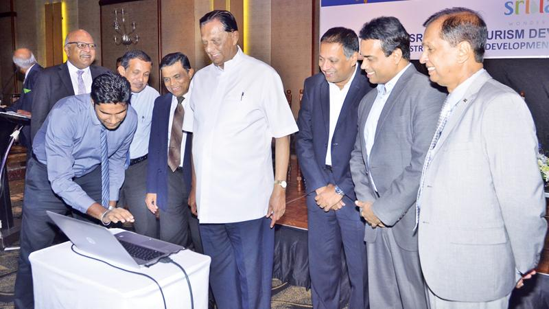 Minister John Amaratunga launches the website of Sri Lanka Tourism Awards 2018.  Pic: Vipula Amarasinghe