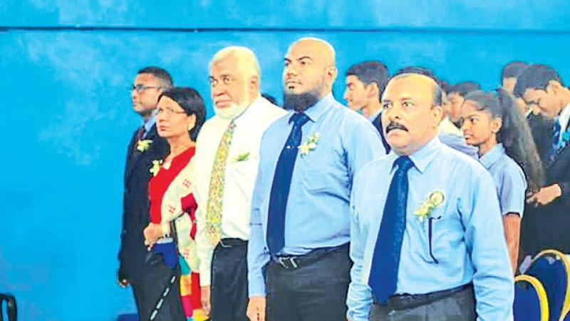 From right: Rtn. PP G.S Sylvester, Rtn. PP Saif Ramzi, Past District Governor Rtn. Tariq Thulba, Rtn. PP. Pubudu De Zoysa and Rtn. Andrew Samuel