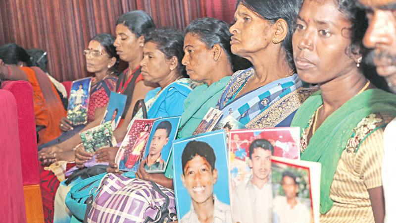The Office of Missing Persons will commemorate the International Day of the Disappeared by releasing its interim report at  the J.R. Jayewardene Centre in Colombo on August 30 at 3 p.m.   The keynote address will be delivered by Dr. Deepika Udugama, Chairperson of the Human Rights Commission of Sri Lanka.  Families of the disappeared and missing persons will also participate.