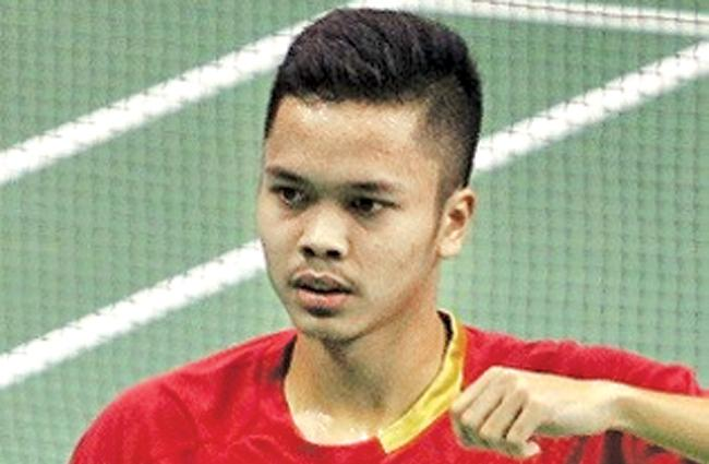The winner Anthony Ginting