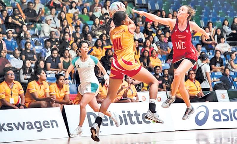 Action from the Sri Lanka versus Hong Kong match