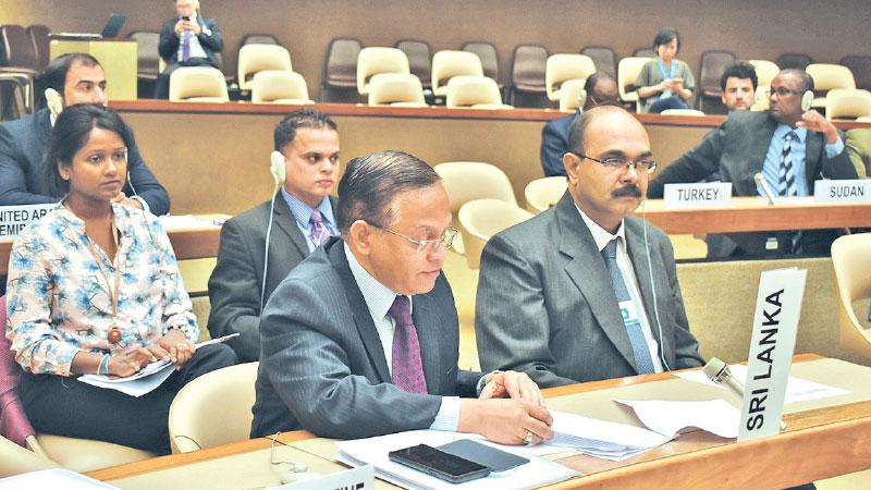 Ambassador A. L. A. Azeez and the Sri Lanka delegation