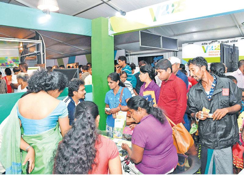 The 'Enterprise Sri Lanka' program in Moneragala comprised 625 stalls. Here visitors at the exhibition