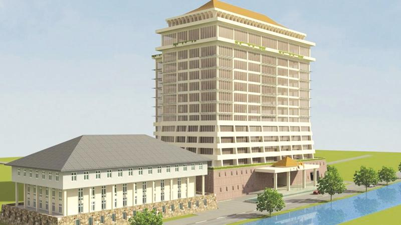 Artist rendering of the new WPC building at Battaramulla