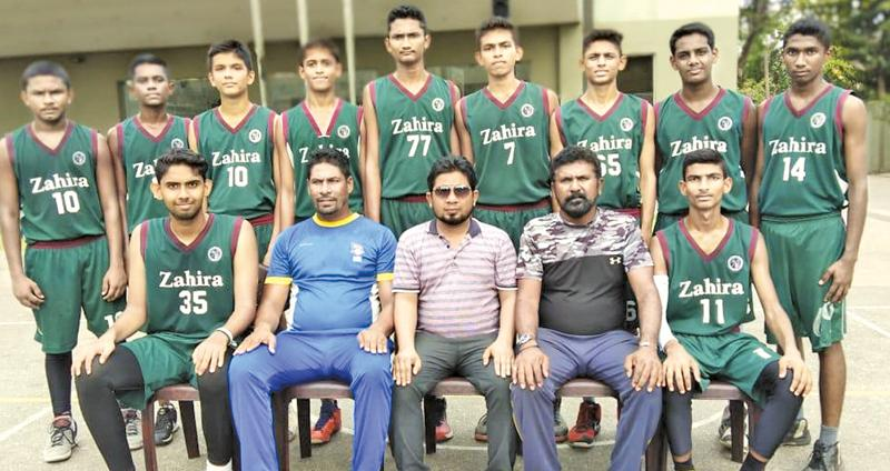 The Zahira College squad: Seated from left: Akthar Ameer (Captain), Asanka Perera (Asst. Coach), Ahnaf Khan (M.I.C.), Samson de Mel (Head Coach), Ashfaaq Ahamed (Vice Captain). Standing from left: R. Fathany, M. F. M. Nafeel, Sūd Ibrahim, M. R. M. Rikaz, M. Minhaj, Hussein Ziyard, M. Ruzaik, Abdul Hameed,        M. H. M. Hishni. Absent: Ashir, Abdul Majid, Abdul Hadi, Asthak