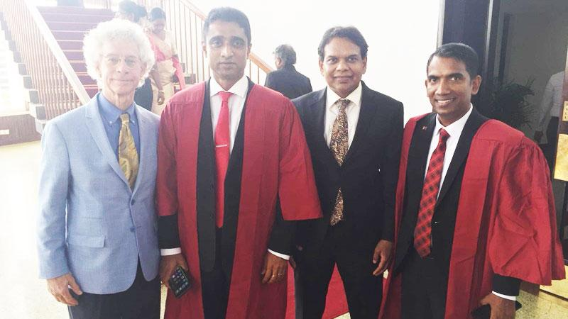 Dr. Jim Garrison-Founder and CEO, Ubiquity University, Dr. Dayan Rajapakse-Chairman/Managing Director, ESOFT, Ravi Jayawardena - Group Chief Executive Officer, Maliban Biscuit Manufactories (Pvt) Ltd and Dilan Perera - Chief Operating Officer, ESOFT-Colombo