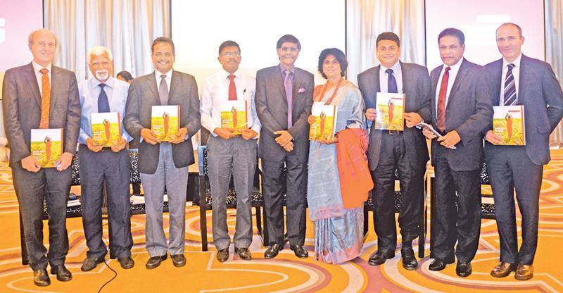 From left: Martin Rama, Chief Economist, South Asia Region,World Bank, Dr. H. Manthrithilake, Head, Sri Lanka Development Initiative, IWMI, Prof. Buddhi Marambe, Faculty of Agriculture University of Peradeniya, SarathPremalal, Director General, Department of MeteorologyProf. Mohan Munasinghe, Founder Chairman, Munasinghe Institute of Development Ms. Kusum Athukorala, Chair, Network of Women Water Professionals, Muthukumara Mani,Lead Economist, World Bank, Anura Dissanayake, Secretary,Ministry of Mahaweli De