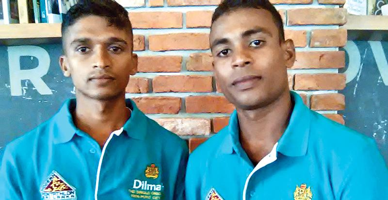 Asanka Nilaweera (left) and Suresh Kelum two athletes who will contest the Laser Run World Championship