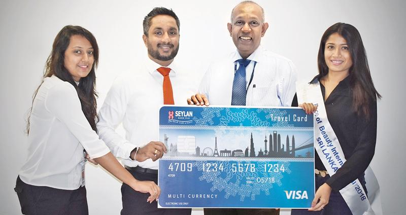 From left: Assistant Manager, Brand Marketing Cards at Seylan Bank, Nadunika Pallegangoda, Head of Marketing and Sales, Gamika de Silva, Head of Cards, Jayanath Dias and Minelle Perera.