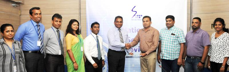 From left:Legal Officer, SLT - Shiromi Saputhanthri, DGM/Metro (Sales)SLT - Chethana Attanayake, GM/Sales Metro SLT - Lakmal Jayasinghe, Manager/External Channel SLT - Kumari Wijesuriya, Chief Sales Officer SLT - Imantha Wijekoon, CEO SLT - Kiththi Perera, Chairman,Coral property Developers (Pvt) Ltd - S. Pirabaharan, Managing Director/Coral property Developers (Pvt) Ltd - S. Vasiharan, Project Engineer/Coral property Developers (Pvt) Ltd - D. Navaneeth and Planning Engineer - S.C.Kaushika,