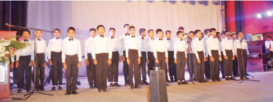 The stage play 'A modern version of Prince & the Pauper' by Advanced Level Students of Dharmaraja College,Kandy.