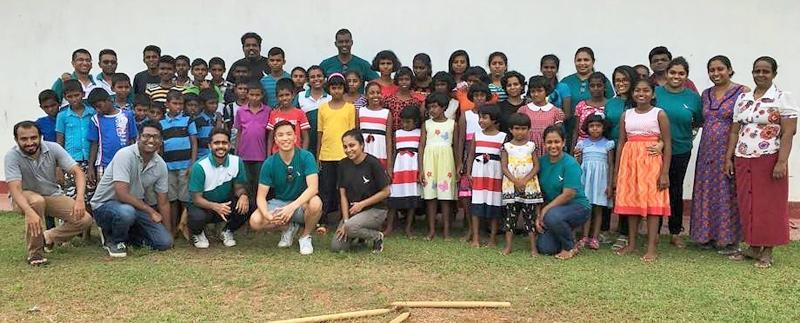 Cathay Pacific Airways Colombo team and children of Kala Musu Kadella