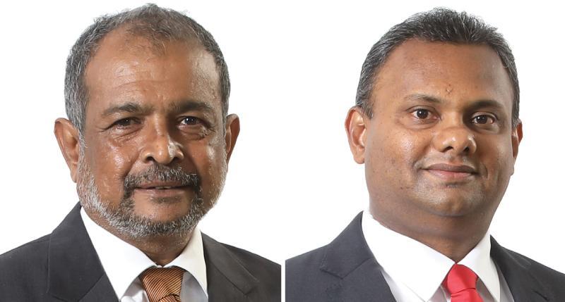 CEO Nimal Tillekeratne and Pan Asia Chairman G. A. R. D. Prasanna