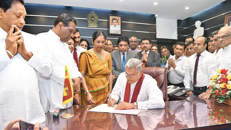 Chamal Rajapaksa assumed duties as Health, Nutrition and Indigenous Medicine Minister on Friday.