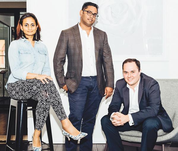 Mina Radhakrishnan, Ruwin Perera and Head of Growth, Scott Dolce