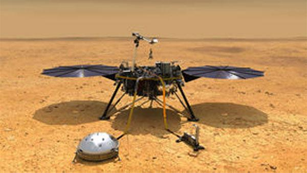 NASA lander survives harrowing descent to the surface of Mars
