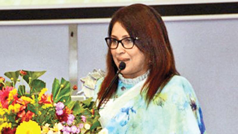 DIMO Chief Human Resource Officer Dilrukshi Kurukulasuriya addressing the gathering
