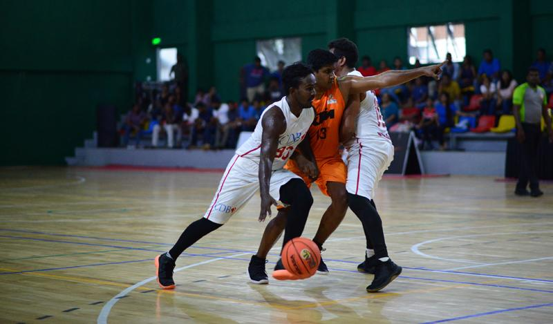 Action between CDB and DPG in the men's D division final