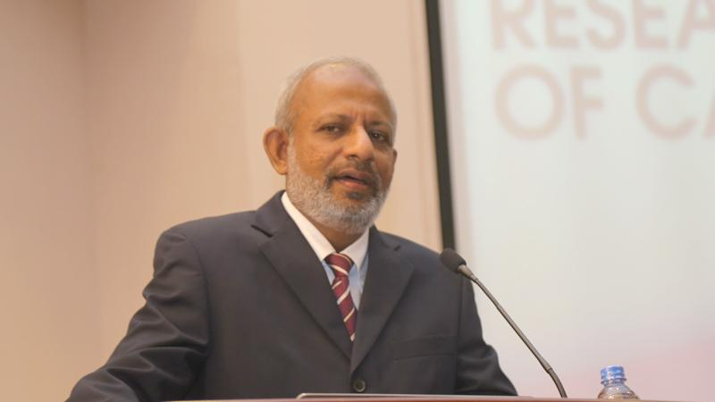 Prof. Kapila Perera delivering his speech