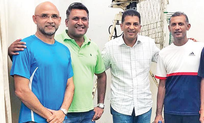 From left: Marvan Atapattu, Suranjith Silva, Roshan Mahanama and Ruwan Kalpage at a reunion