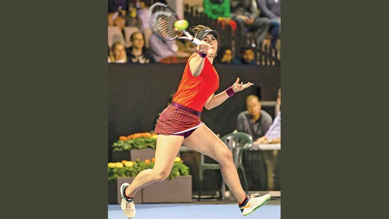 Bianca Andreescu of Canada hits a return against Venus Williams of the US during their women's singles quarter-final match at the ASB Classic tennis tournament in Auckland on January 4, 2019. (AFP)