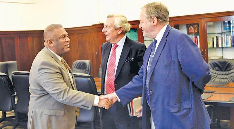 Minister Samaraweera with the EU Parliamentary members