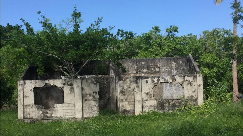 Damaged houses