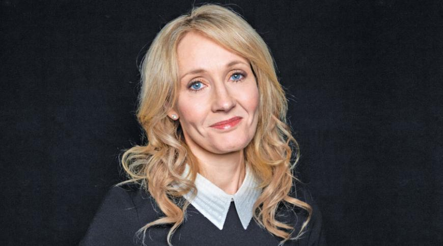 """""""Harry Potter"""" novels author J.K. Rowling poses for a photo at an appearance at The David H. Koch Theater in New York."""