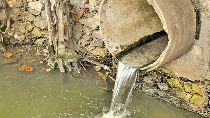 Waste water discharged to a canal