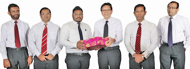 Ceylon Agro Industries (Prima Group Sri Lanka) General Manager Shun Tien Shing, Ceylon Agro Industries Deputy General Manager Sajith Gunaratne and Senior Business Manager, Ceylon Agro Industries Donavan Ondaatje at the annual National Sales Conference.
