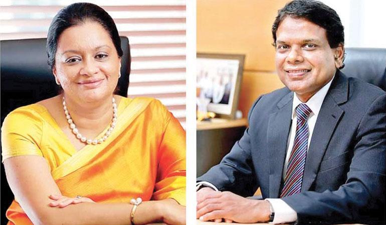 (Left): Maliban Biscuit Managing Director Kumudika Fernando. (Right): Maliban Group CEO Ravi Jayawardena