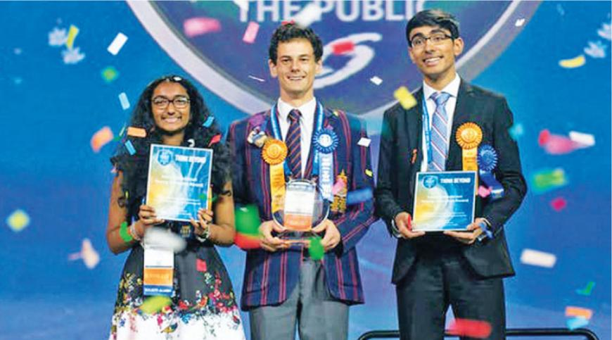 Meghana Bollimpalli won one of the top three prizes at the Intel International Science and Engineering Fair for presenting on the low-cost supercapacitor project