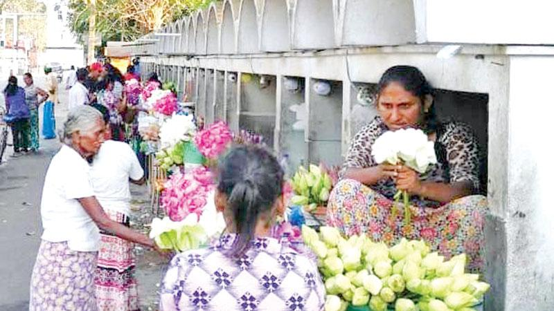 Vendors waiting in hope