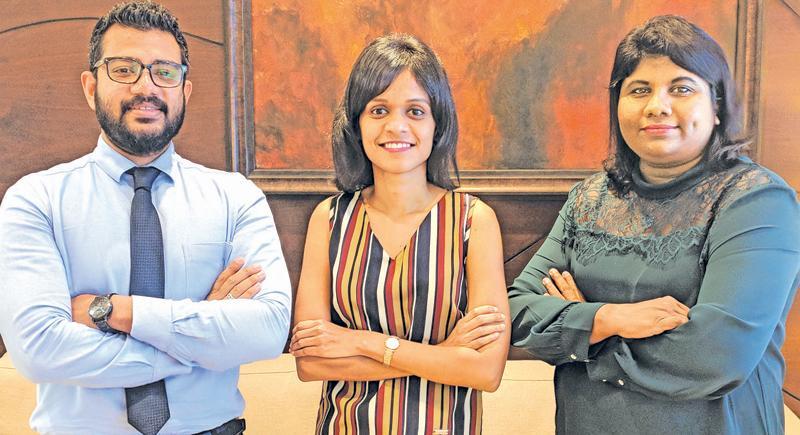 The NDB Wealth Investment Team comprising NDB Wealth Vice President Vindhya Jayasekera, (right) with Amaya Nagodavithane and Ravinath Weerakoon.