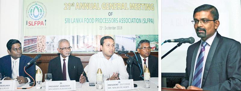 The AGM of the Sri Lanka Food Processors' Association in progress