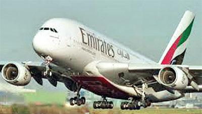 Airbus A380 on a Flight from Sydney to Dubai in Colombo